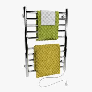 electric towel warmer 3d model