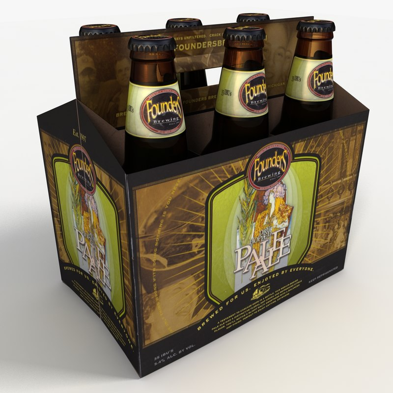 pack founders beer 3d max