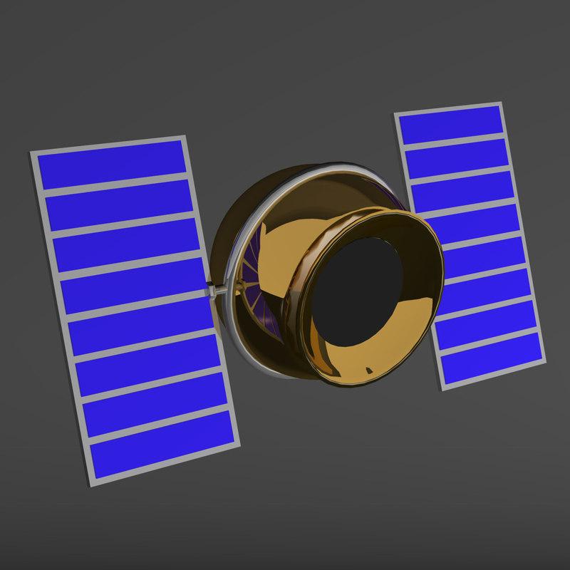 3d model satellite