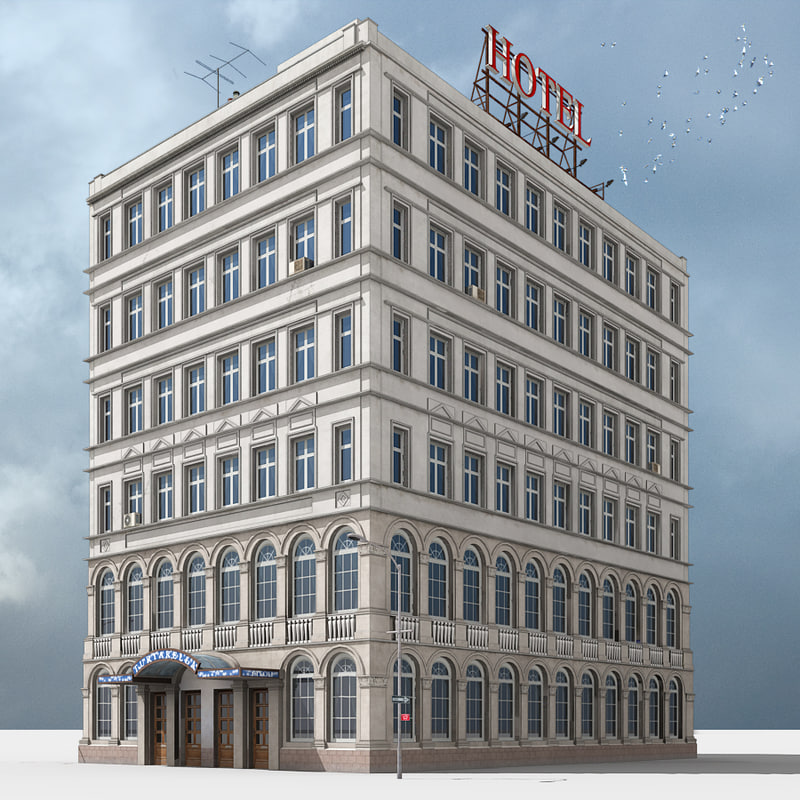 hotel building new york 3d model On model house nyc