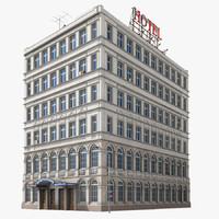 hotel building new york 3d model