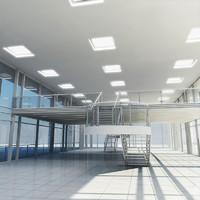 3d interior glass building model