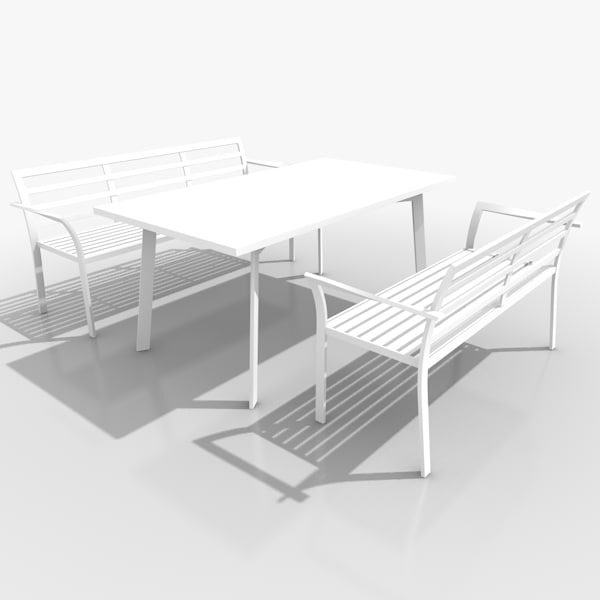 3d light patio furniture set