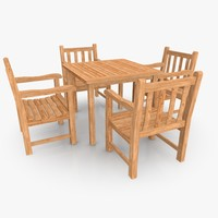 3d model garden patio furniture set