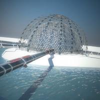 3d modern architecture - igloo model