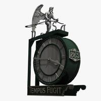 3ds max wall clock tempus fugit