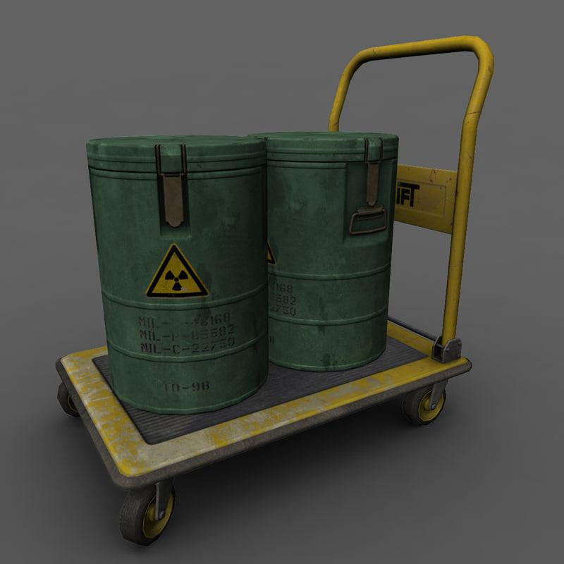 3d model trolley barrels