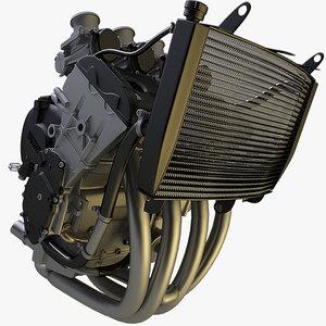 3d model r6 engine