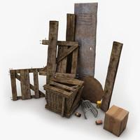 Wooden Crates Junk 2