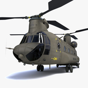 3d chinook helicopter model