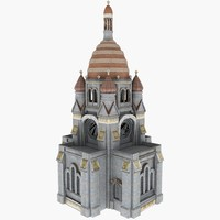 Classical White Cathedral Russia Building