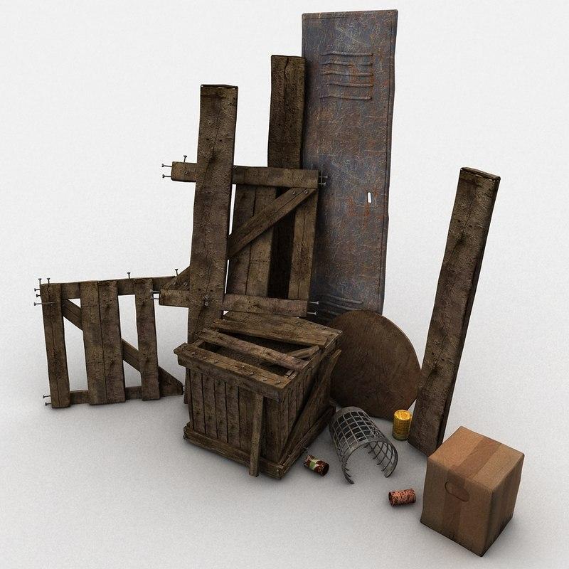 max junk wood crate