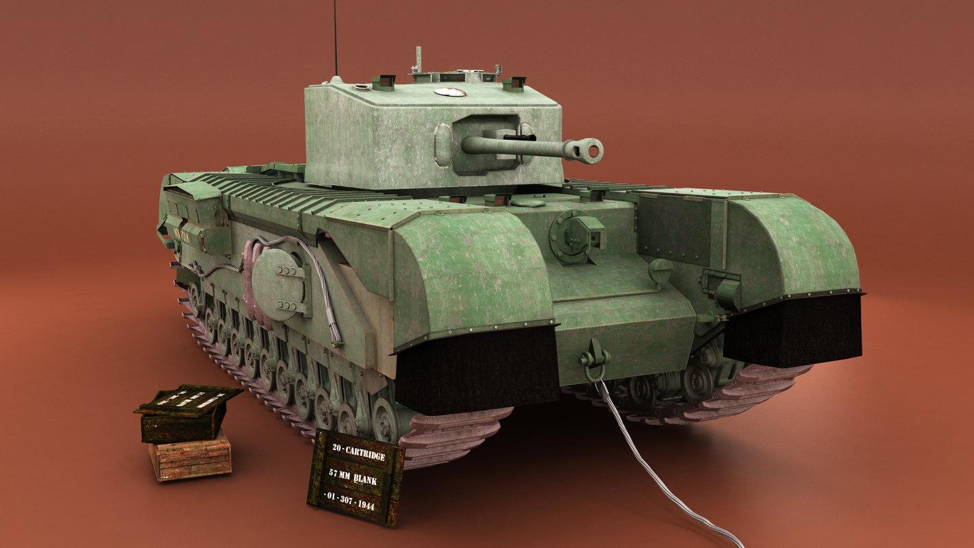 3d churchill vii tank