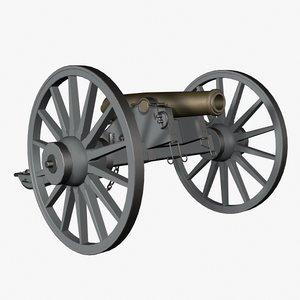 howitzer confederate 3d model