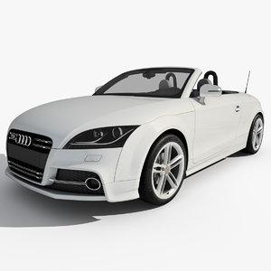 3d model of audi tts roadster 2011
