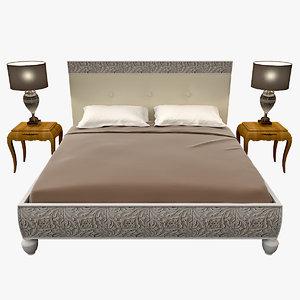 bizzotto rebecca bed 3d model
