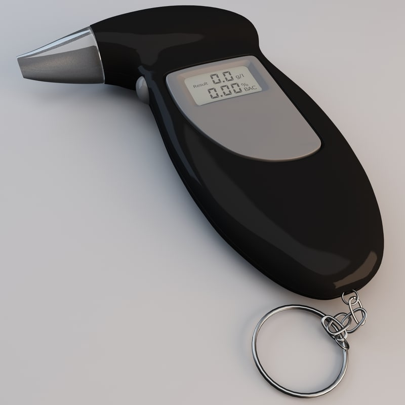 digital alcohol tester 3d obj