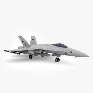 3d model of f a-18 hornet fighter jet