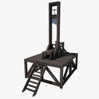 3d guillotine wood model
