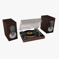 linn turntable speakers 3d model