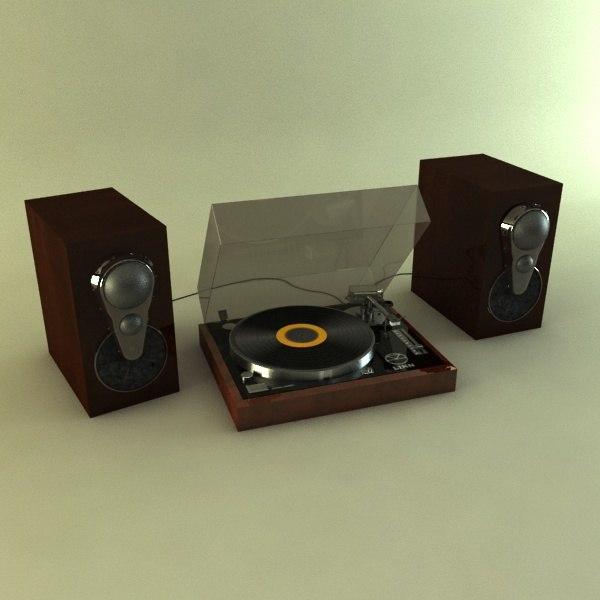 linn turntable speakers 3d model