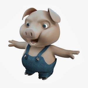 3d 3ds pig fantasy