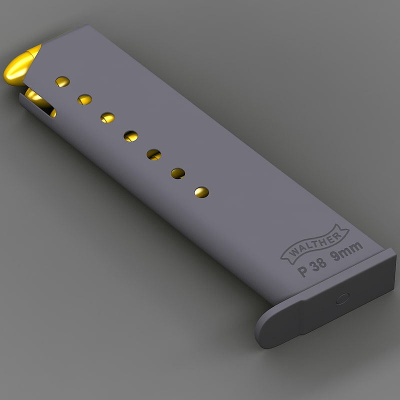 walther p 38 magazine 3d 3ds