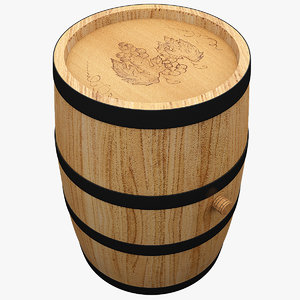 3d model wine barrel 5
