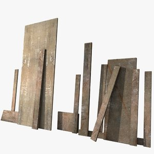 mdf wooden 3d model