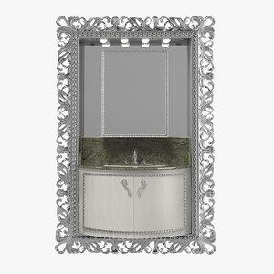 lineatre bathroom classic art deco 3d model