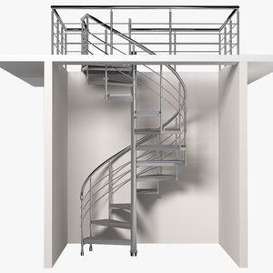 3d staircase spiral model