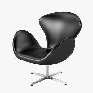 3d model arne jacobsen swan chair