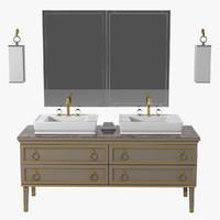 Oasis Luxury Bathroom  Furniture Set