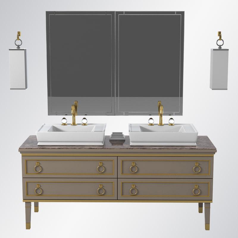 oasis luxury bathroom furniture 3d model