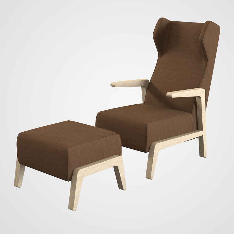 3ds max scancal boomerang chill armchair