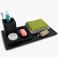 bathroom decoration bath 3d model