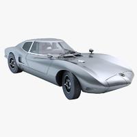 sport car chevrolet 3d model