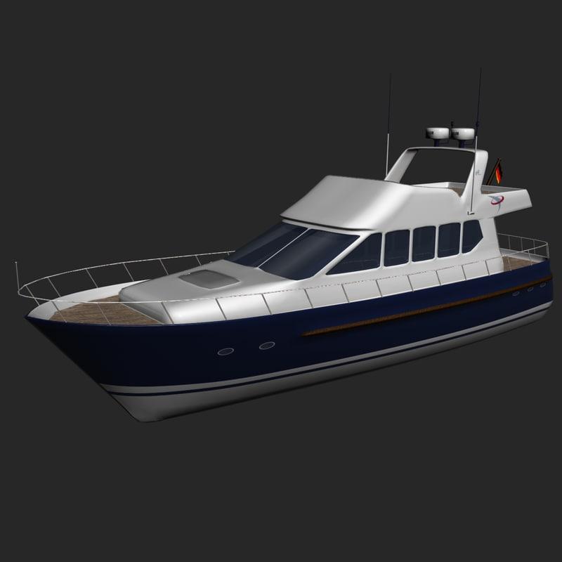 3d model euro yacht