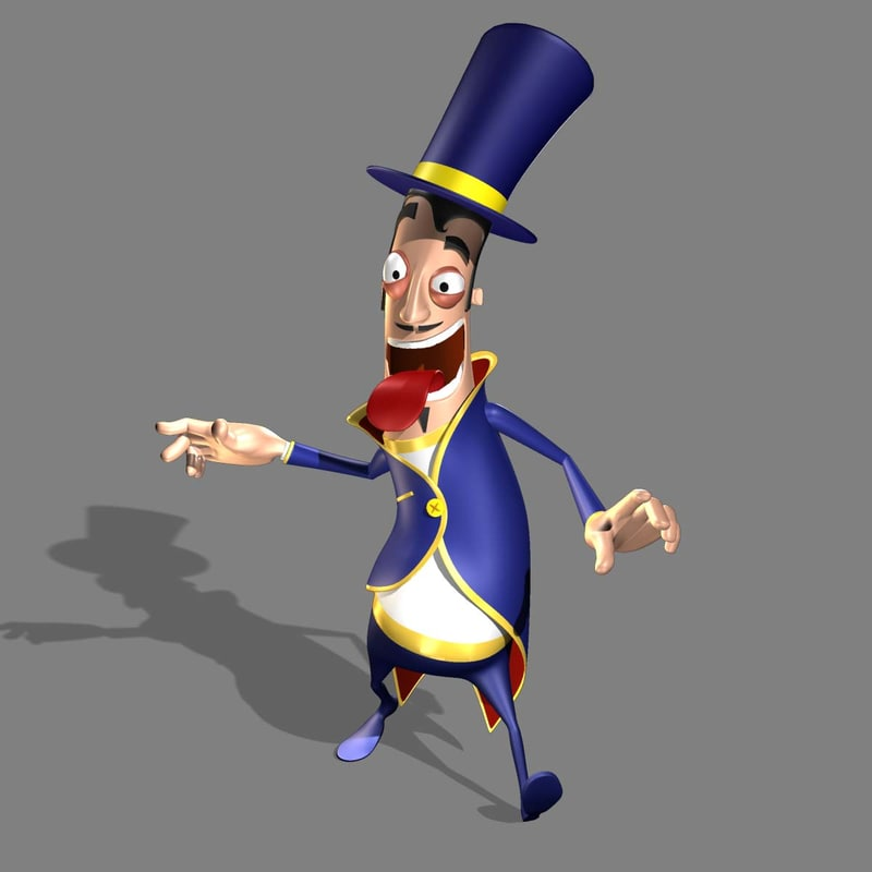 magician cartoon 3d 3ds