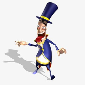 magician cartoon 3d 3ds