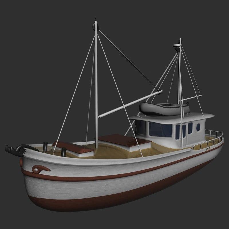 3ds max vintage ship cargo