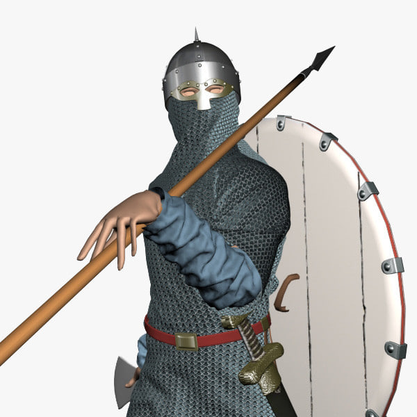 viking modelled chainmail 3d model