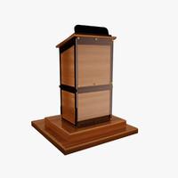 3d model podium