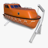 lifeboat boat 3d 3ds