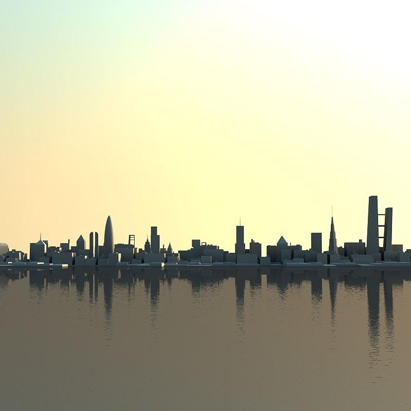 3d skyline model