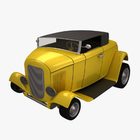 hot road toon car 3ds