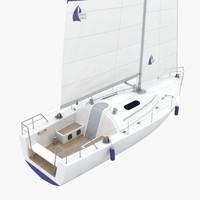 sailing boat 3d model