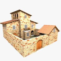 authentic house cottage 3d model