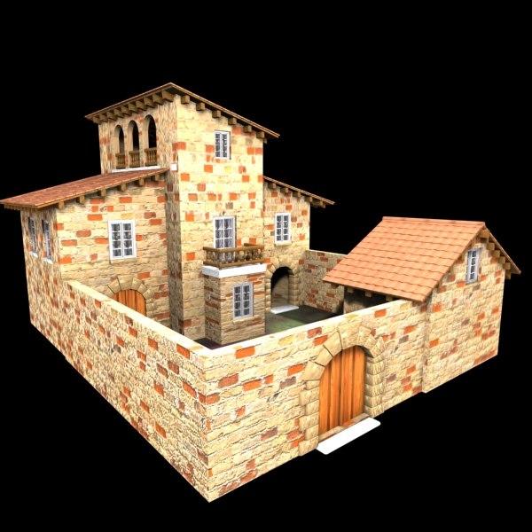 authentic house cottage 3d model