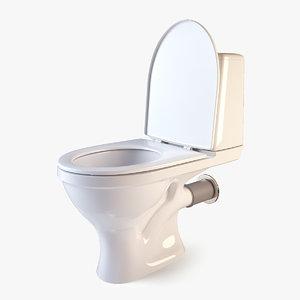 3d toilet modeled